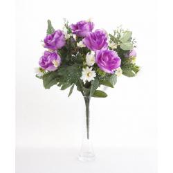 Bouquet Rose Fleurette h33 cm
