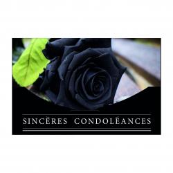 Carte Jeso par 10 Sincères Condoléances