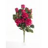 Bouquet Vertical Roses Rouge 14 têtes H45cm