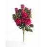 Bouquet Vertical Roses Rouge 14 têtes H45cm