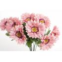 Bouquet Gerbera Rose 10 têtes H45cm