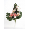 Bouquet Vertical Gerbera Rose Saumon H45cm