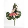 Bouquet Vertical Gerbera Rose Saumon H45cm
