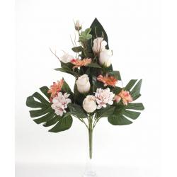 Bouquet Vertical Gerbera Rose Champagne H45cm