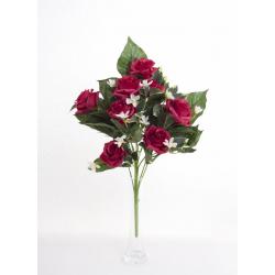Bouquet Vertical Roses Rouge 10 têtes H45cm