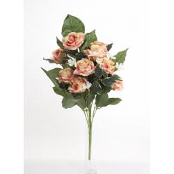 Bouquet Vertical Roses Saumon 10 têtes H45cm