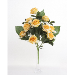 Bouquet Vertical Roses Jaune 10 têtes H45cm