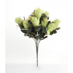 Bouquet Roses Boutons Vert 12 têtes H45cm