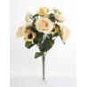 Bouquet Roses Anemones Jaune 18 têtes H45cm