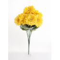 Bouquet Gerbera Jaune 10 têtes H45cm