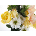 Bouquet Pivoine Orchidée Jaune H35cm