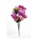 Bouquet Pivoine Orchidée Beauty H35cm