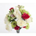 Bouquet Pivoine Orchidée Vert H35cm