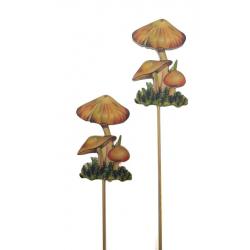 Piques Champignons Bois par 12