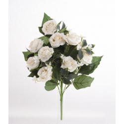 Bouquet Vertical Roses Beige 10 têtes H45cm
