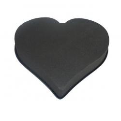 Coeur Mousse Eychenne Noire 33cm par 2