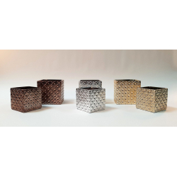 Cache Pot Carré Or 13 x 13 x h 13 cm