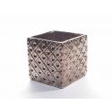 Cache Pot Carré Cuivré 10.5 x 10.5 x h 10.2 cm
