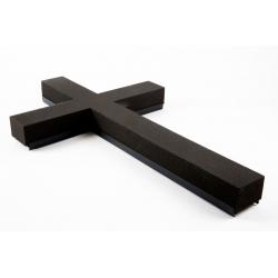 Croix Mousse Eychenne Noire 80cm par 2