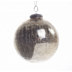 Boule Noël Craquelée Or d 12 cm