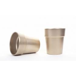 Cache-pot avec Rebord d16 h17.8 cm Or par 4