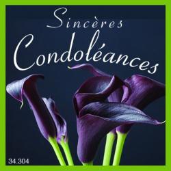 SINCERES CONDOLEANCES - Etiquettes Voeux par 500