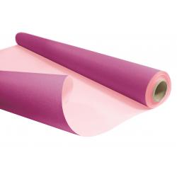 Kraft Duo Fuchsia/Rose Pastel en Rouleau 0.8x40m