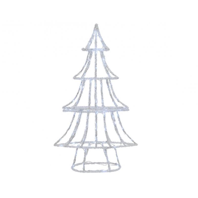Sapin h100 cm avec 110 LED blanc - extérieur
