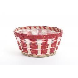Vannerie Rouge/Blanche Liseret Or D.20 Ht10cm