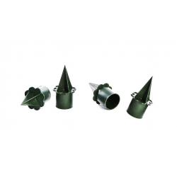 Porte Bougies PVC Vert par 25