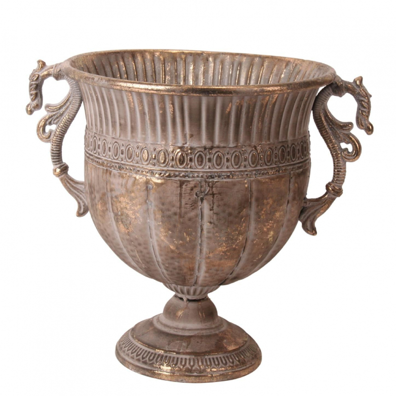 POKAL - Vase Médicis Zinc Or D32 x H41 cm