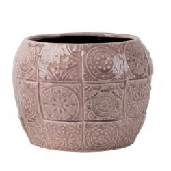 PAZO - Cache Pot Ciment Lilas D19 x H14.5 cm