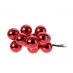 Boule Noël 20mm sur fil Rouge par 144