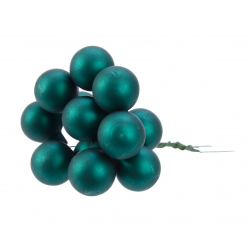 Boule Noël 20mm sur fil Vert Emeraude par 144
