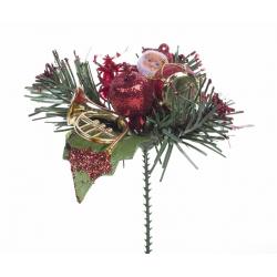 Pique Père Noel ,Tambour Rouge  d10 cm par 12