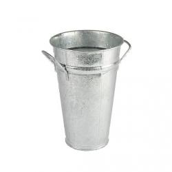 Pot Prof Zinc Naturel avec Anses D14.5/(10) x H20 cm