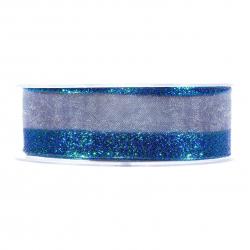Ruban Iridescent Bleu 25mmx15m