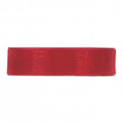 Ruban Organza 25mmx50m Rouge