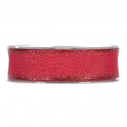 Ruban Shining Rouge 25mm x 20 m