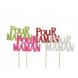 MUM - Pique Pour Maman Assortis D9 x H20 cm par 12