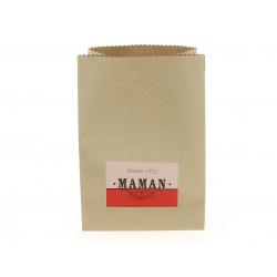 POCKET - Sac Kraft Bonne Fête Maman L14 x P7 x H20 cm par 12