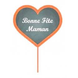 MUM - Pique Coeur RougeBonne Fête Maman D7 x H50 cm par 12