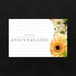 ANNIV - Carte Jeso Twist par 10 Joyeux Anniversaire
