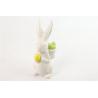 RABBIT - Lapin Céramique Déco Blanc L6 x H 14.5 cm