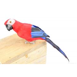 PARROT - Perroquet Amazone Rouge L30 cm