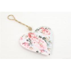 GARDEN - Coeur Décor Rose Garden D15 cm
