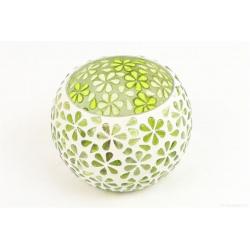 DATUR - Vase Verre Mosaique vert D8 x H8 cm