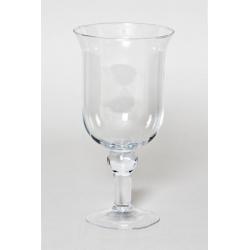 GLASS - Vase Verre sur Pied D15 x H28.5 cm