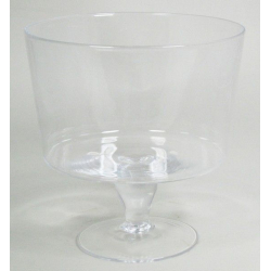 GLASS - Pot Conique sur Pied D25 x H25.5 cm