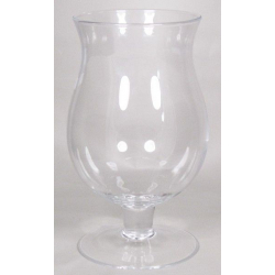 FLOR - Vase Verre sur Pied D15.5/17.5 x H29.5 cm